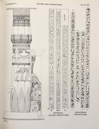 The rock tombs of Tell el-Amarna. Complete set of 6 volumes. Part I: The Tomb of Meryra. Part II: The Tombs of Panehesy and Meryra II. Part III: The Tombs of Huya and Ahmes. Part IV: Tombs of Penthu, Mahu, and Others. Part V: Smaller Tombs and Boundary Stelae. Part VI: Tombs of Parennefer, Tutu, and Aÿ (complete set of 6 parts in 3 volumes, 2004 reedition)[newline]M0410n-44.jpeg
