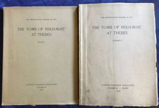 The tomb of Rekh-mi-re at Thebes. Vol. I & II (complete set). DAVIES Norman de Garis[newline]M0426c-01.jpg