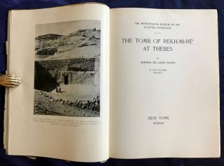 The tomb of Rekh-mi-re at Thebes. Vol. I & II (complete set)[newline]M0426c-02.jpg
