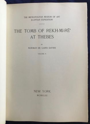 The tomb of Rekh-mi-re at Thebes. Vol. I & II (complete set)[newline]M0426c-11.jpg