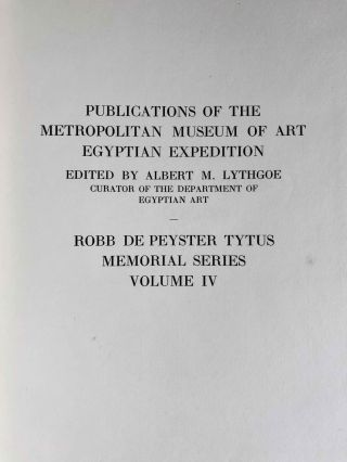 Robb de Peyster Tytus series, Vol. IV: The tomb of the two sculptors at Thebes[newline]M0429c-02.jpeg