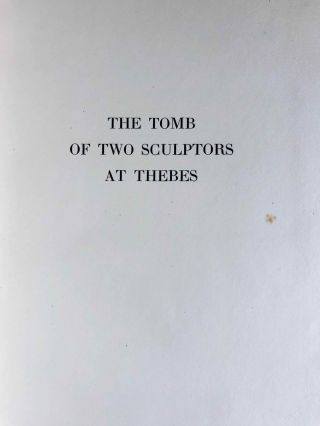 Robb de Peyster Tytus series, Vol. IV: The tomb of the two sculptors at Thebes[newline]M0429d-03.jpeg