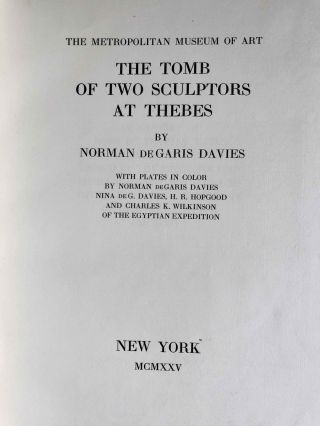 Robb de Peyster Tytus series, Vol. IV: The tomb of the two sculptors at Thebes[newline]M0429d-04.jpeg