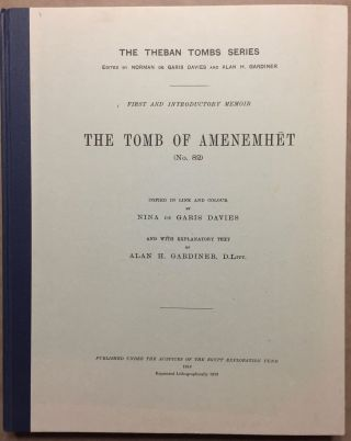 The tomb of Amenemhet (No 82). DAVIES Norman de Garis - GARDINER Alan Henderson[newline]M0433c.jpg