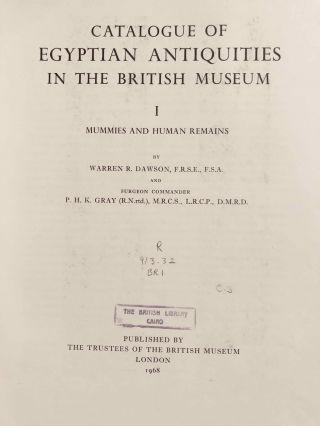 Catalogue of Egyptian Antiquities in the British Museum. Vol. I: Mummies and Human Remains[newline]M0444d-04.jpg