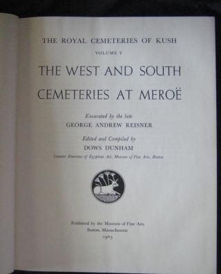 Vol. V: The West and South Cemeteries at Meroë.[newline]M0482c-02.jpg