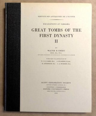 Great tombs of the First Dynasty. Vol. II & III. EMERY Walter Bryan[newline]M0511d.jpg
