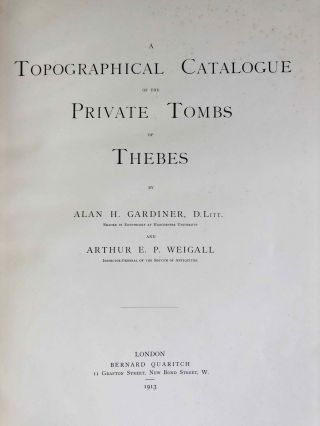 A topographical catalogue of the private tombs of Thebes[newline]M0523a-02.jpeg