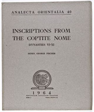 Inscriptions from the Coptite nome. FISCHER Henry George[newline]M0584a.jpg