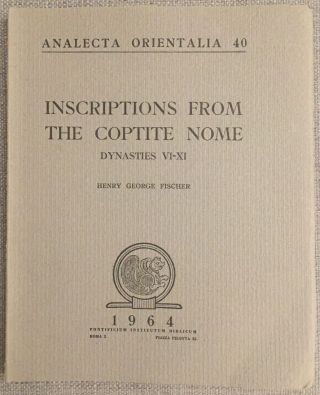 Inscriptions from the Coptite nome. FISCHER Henry George[newline]M0584b.jpg