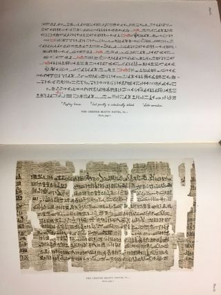 The Library of A. Chester Beatty. Description of a hieratic papyrus with a mythological story, love-songs, and other miscellaneous texts. (The Chester Beatty Papyri. 1.)[newline]M0613b-54.jpg