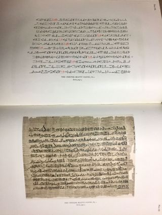 The Library of A. Chester Beatty. Description of a hieratic papyrus with a mythological story, love-songs, and other miscellaneous texts. (The Chester Beatty Papyri. 1.)[newline]M0613b-55.jpg