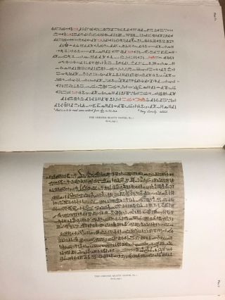 The Library of A. Chester Beatty. Description of a hieratic papyrus with a mythological story, love-songs, and other miscellaneous texts. (The Chester Beatty Papyri. 1.)[newline]M0613b-57.jpg