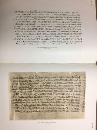 The Library of A. Chester Beatty. Description of a hieratic papyrus with a mythological story, love-songs, and other miscellaneous texts. (The Chester Beatty Papyri. 1.)[newline]M0613b-60.jpg