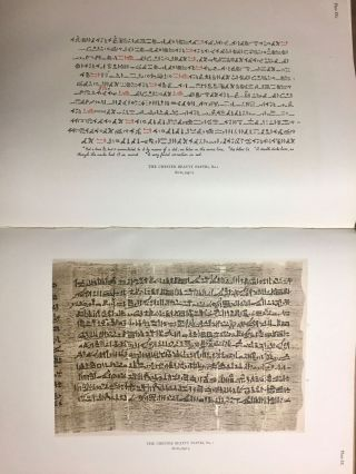 The Library of A. Chester Beatty. Description of a hieratic papyrus with a mythological story, love-songs, and other miscellaneous texts. (The Chester Beatty Papyri. 1.)[newline]M0613b-61.jpg