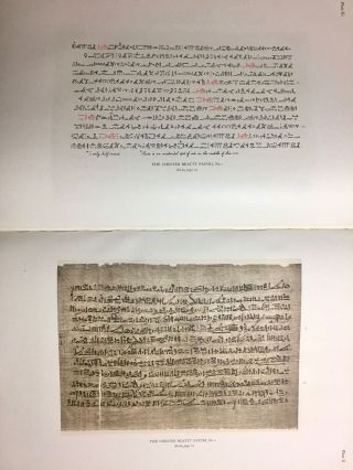 The Library of A. Chester Beatty. Description of a hieratic papyrus with a mythological story, love-songs, and other miscellaneous texts. (The Chester Beatty Papyri. 1.)[newline]M0613b-62.jpg