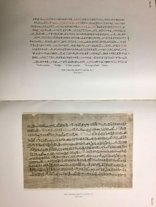The Library of A. Chester Beatty. Description of a hieratic papyrus with a mythological story, love-songs, and other miscellaneous texts. (The Chester Beatty Papyri. 1.)[newline]M0613b-63.jpg