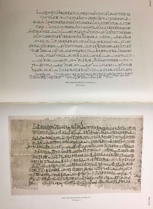 The Library of A. Chester Beatty. Description of a hieratic papyrus with a mythological story, love-songs, and other miscellaneous texts. (The Chester Beatty Papyri. 1.)[newline]M0613b-69.jpg