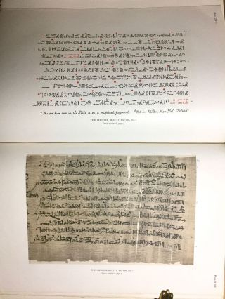 The Library of A. Chester Beatty. Description of a hieratic papyrus with a mythological story, love-songs, and other miscellaneous texts. (The Chester Beatty Papyri. 1.)[newline]M0613b-76.jpg