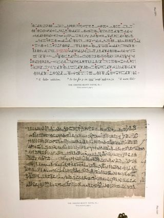 The Library of A. Chester Beatty. Description of a hieratic papyrus with a mythological story, love-songs, and other miscellaneous texts. (The Chester Beatty Papyri. 1.)[newline]M0613b-77.jpg
