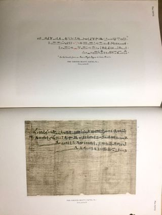 The Library of A. Chester Beatty. Description of a hieratic papyrus with a mythological story, love-songs, and other miscellaneous texts. (The Chester Beatty Papyri. 1.)[newline]M0613b-79.jpg