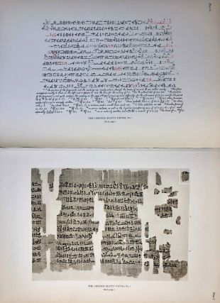 The Library of A. Chester Beatty. Description of a hieratic papyrus with a mythological story, love-songs, and other miscellaneous texts. (The Chester Beatty Papyri. 1.)[newline]M0613c-28.jpeg