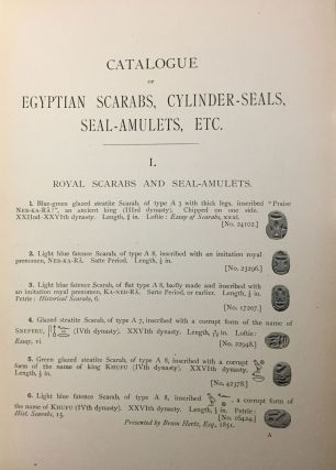 Catalogue of Egyptian scarabs, etc. in the British Museum. Vol. I: Royal scarabs [All published ][newline]M0745-09.jpg