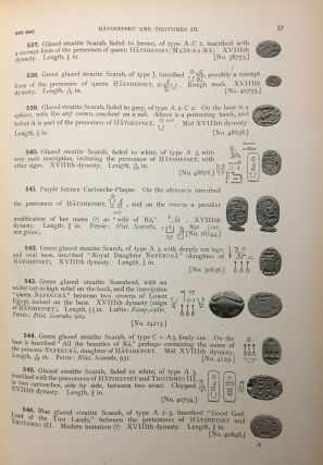 Catalogue of Egyptian scarabs, etc. in the British Museum. Vol. I: Royal scarabs [All published ][newline]M0745-10.jpg