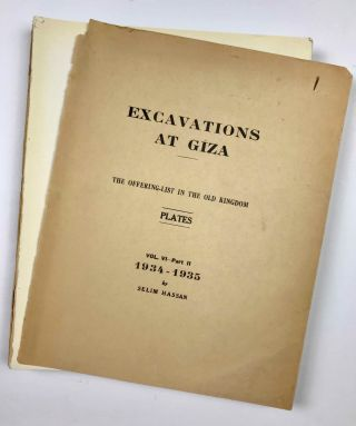 Excavations at Giza. Vol. VI. Part 2,2 (1934-1935): The Offering-List in the Old Kingdom. Plates.[newline]M0757c-02.jpeg