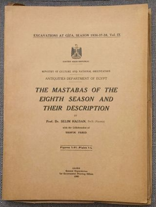 Excavations at Giza. Vol. IX (1937-1938). The mastabas of the eighth season and their...[newline]M0762a.jpg