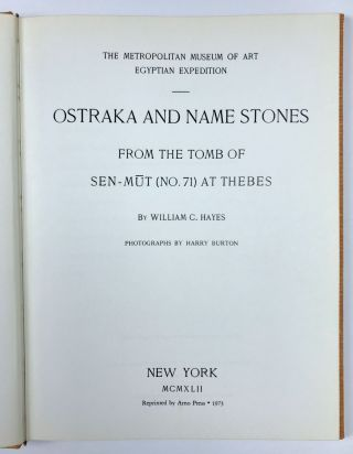 Ostraka and name stones from the Tomb of Sen-Mut (No 71) at Thebes. Photographs by Harry Burton[newline]M0768c-02.jpeg