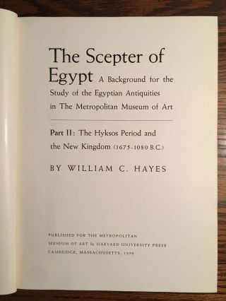The scepter of Egypt. Vol. I: From the Earliest Times to the End of the Middle Kingdom. Vol. II: The Hyksos Period and the New Kingdom (1675–1080 B.C.) (complete set)[newline]M0771c-12.jpg