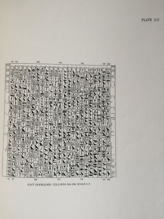 The texts in the mastabeh of Sen-Wosret-Ankh at Lisht. With plates by Lindsley F. Hall from photographs by Harry Burton[newline]M0773a-13.jpg