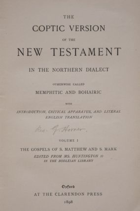 The Coptic Version of the New Testament in the Northern Dialect, 4 volumes (complete set)[newline]M0817-03.jpg