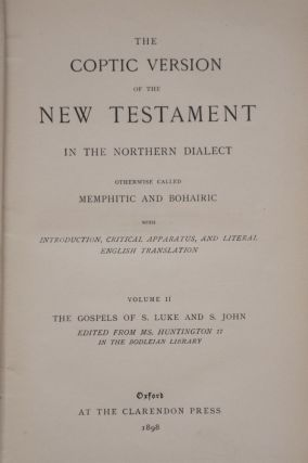 The Coptic Version of the New Testament in the Northern Dialect, 4 volumes (complete set)[newline]M0817-06.jpg