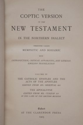 The Coptic Version of the New Testament in the Northern Dialect, 4 volumes (complete set)[newline]M0817-12.jpg