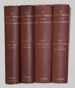 The Coptic Version of the New Testament in the Northern Dialect, 4 volumes (complete set). HORNER...[newline]M0817.jpg