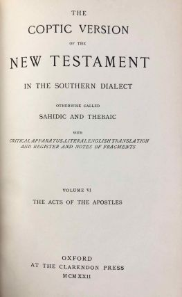 The Coptic version of the New Testament in the Southern dialect otherwise called Sahidic and Thebaic. Vol. VI: The Acts of the Apostles[newline]M0817c-03.jpg