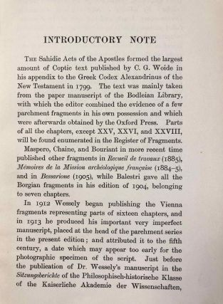 The Coptic version of the New Testament in the Southern dialect otherwise called Sahidic and Thebaic. Vol. VI: The Acts of the Apostles[newline]M0817c-04.jpg