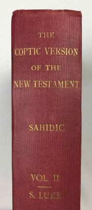 The Coptic version of the New Testament in the Southern dialect otherwise called Sahidic and Thebaic, 7 volumes (complete set)[newline]M0817d-12.jpeg