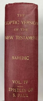 The Coptic version of the New Testament in the Southern dialect otherwise called Sahidic and Thebaic, 7 volumes (complete set)[newline]M0817d-25.jpeg