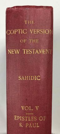The Coptic version of the New Testament in the Southern dialect otherwise called Sahidic and Thebaic, 7 volumes (complete set)[newline]M0817d-32.jpeg