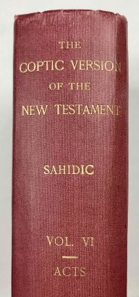 The Coptic version of the New Testament in the Southern dialect otherwise called Sahidic and Thebaic, 7 volumes (complete set)[newline]M0817d-39.jpeg