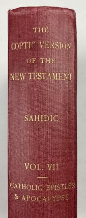 The Coptic version of the New Testament in the Southern dialect otherwise called Sahidic and Thebaic, 7 volumes (complete set)[newline]M0817d-46.jpeg