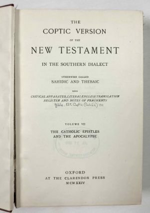 The Coptic version of the New Testament in the Southern dialect otherwise called Sahidic and Thebaic, 7 volumes (complete set)[newline]M0817d-48.jpeg