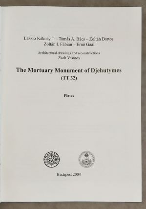 The mortuary monument of Djehutymes (TT32). Vol. I: Text. Vol. II: Plates (complete set)[newline]M0888-12.jpeg