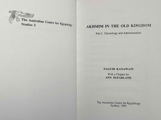 Akhmim in the Old Kingdom. Part I: Chronology and administration[newline]M0897-01.jpeg