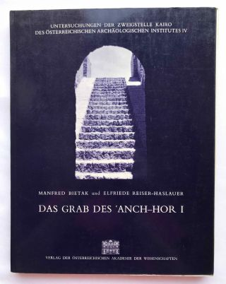 Das Grab des 'Anch-Hor, Obersthofmeister der Gottesgemahlin Nitokris. 2 volumes. Without the additional volume of plans.[newline]M1015e-01.jpg