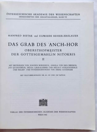 Das Grab des 'Anch-Hor, Obersthofmeister der Gottesgemahlin Nitokris. 2 volumes. Without the additional volume of plans.[newline]M1015e-14.jpg
