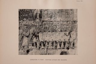 Deir el-Bahari, complete set of 7 volumes: Introduction volume: its plan, its founders and its first explorers. Part I (Pl. I-XXIV): The North-Western end of the upper platform. Part II (Pl. XXV-LV): The ebony shrine. Northern half of the middle platform. Part III (Pl. LVI-LXXXVI): End of northern half and southern half of the middle platform. Part IV (Pl. LXXXVII-CXVIII): The shrine of Hathor and the southern hall of offerings. Part V (Pl. CXIX-CL): The upper court and sanctuary. Part VI (Pl. CLI-CLXXIV): The lower terrace, additions and plans.[newline]M1197-06.jpg